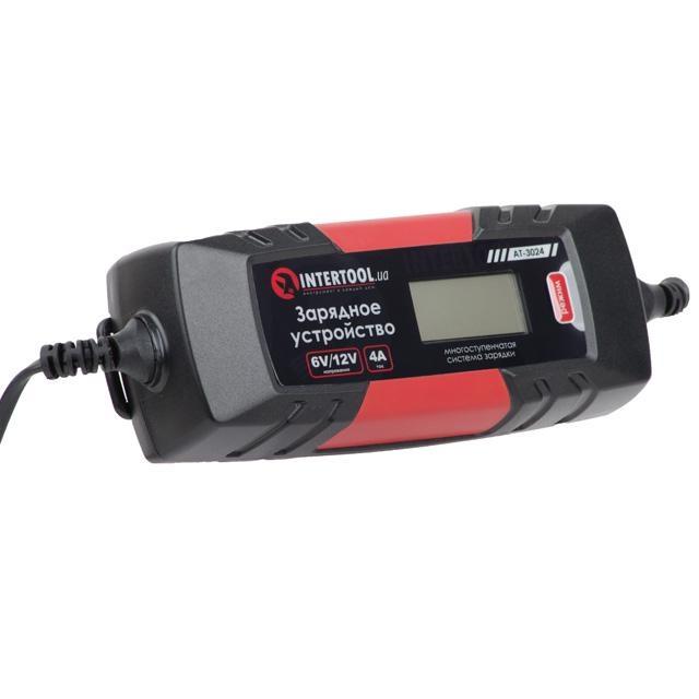 Зарядное устройство 6-12В, 4А, 230В, дисплей INTERTOOL AT-3024 - 1
