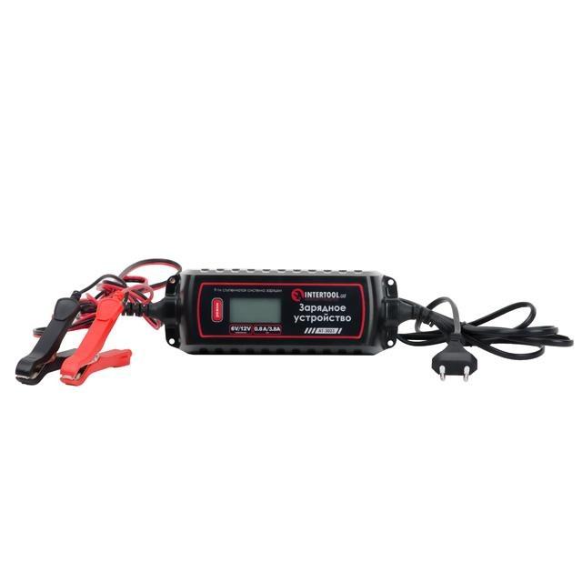Зарядное устройство 6-12В, 0.8-3.8А, 230В, дисплей INTERTOOL AT-3023 - 1
