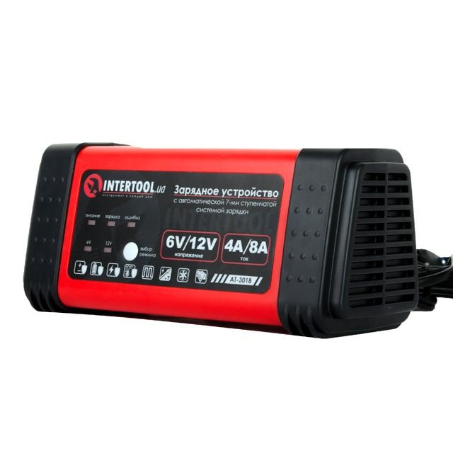 Зарядное устройство 6-12В, 4-8A, 230В INTERTOOL AT-3018 - 1