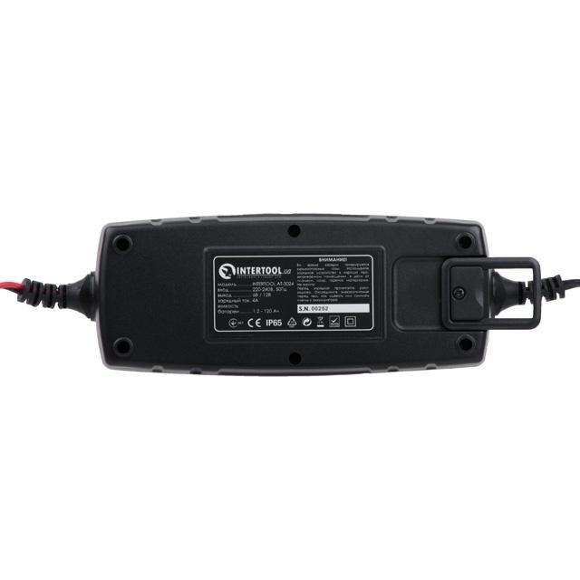 Зарядное устройство 6-12В, 4А, 230В, дисплей INTERTOOL AT-3024 - 2