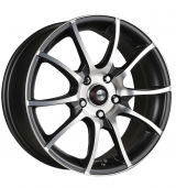 Racing Wheels H-470 BK-F/P R14 W6 PCD 4x98 ET 38 DIA 58,6